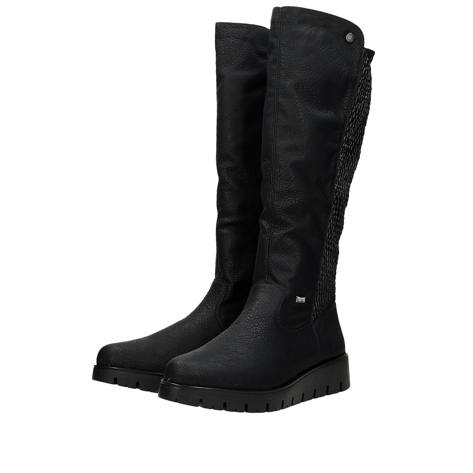 4ce8434ebd30e Rieker dámske zateplené vysoké čižmy - čierne | X239000-BLK www.robel.sk