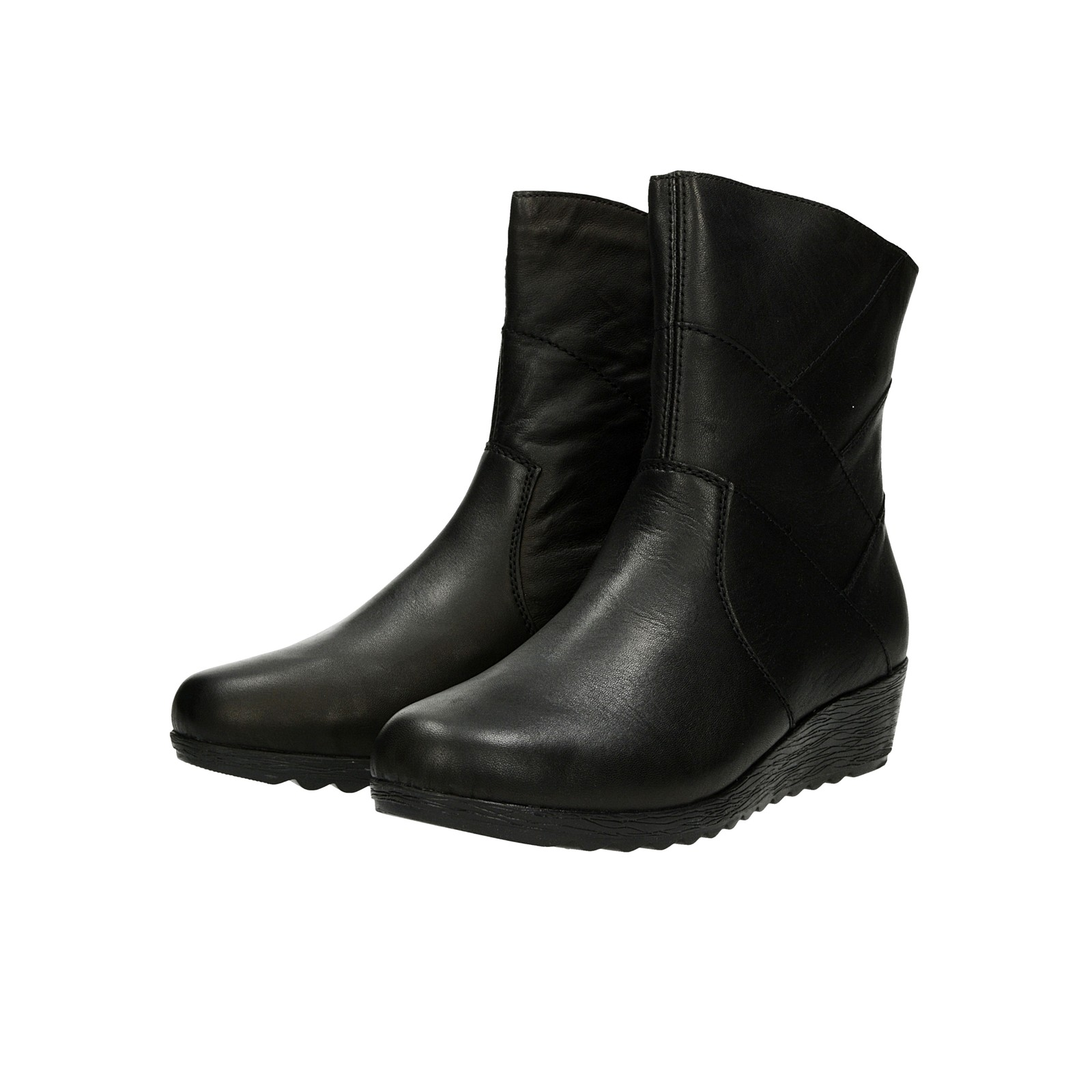 ... Rieker dámske kožené nízke čižmy na zips - čierne ... b45ec15d922