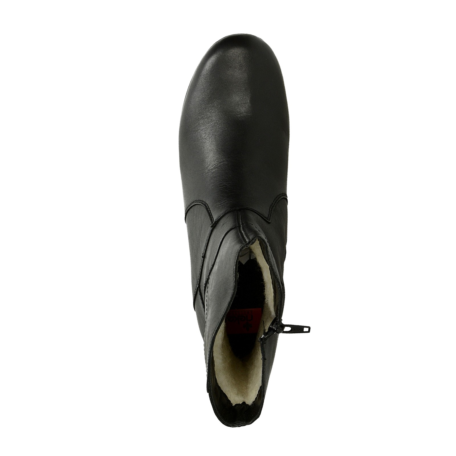 Rieker dámske kožené nízke čižmy na zips - čierne ... a724e387e15