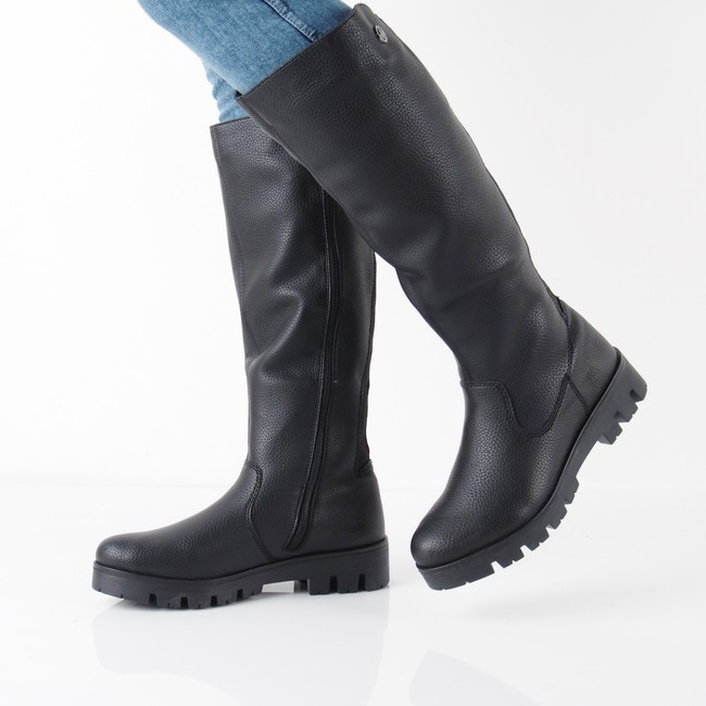 ... Rieker dámske vysoké čižmy - čierne ... 3ee805f9a75