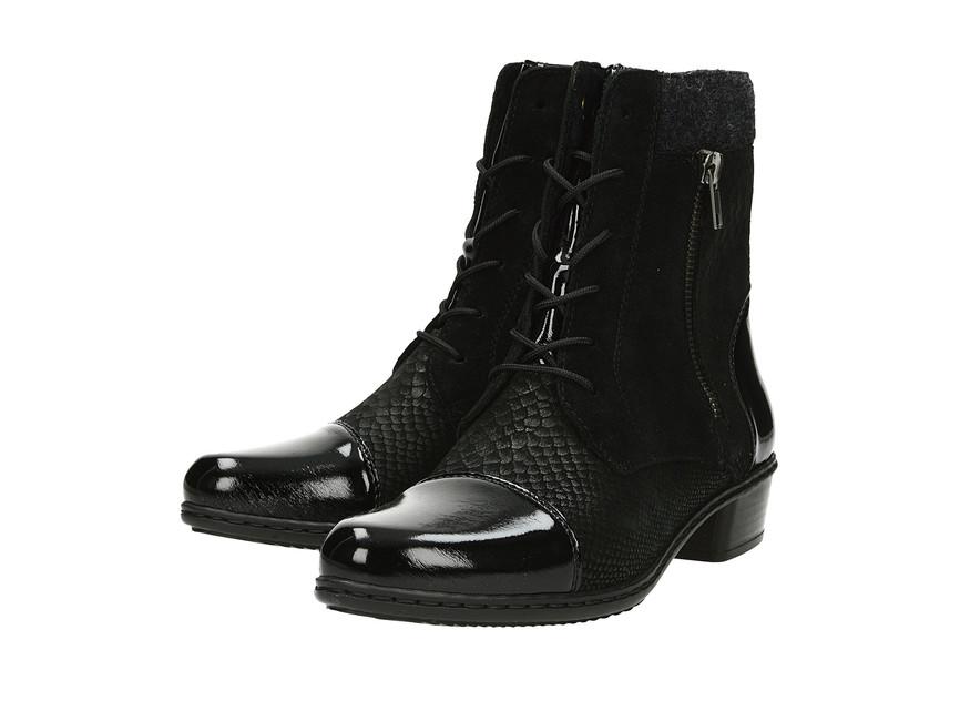 f19e25cf7e0c Rieker dámske elegantné čižmy - čierne ...