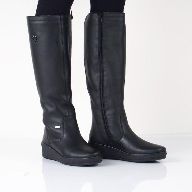 a32171e16 Rieker dámske kožené zateplené čižmy - čierne | Y445500-BLK www.robel.sk