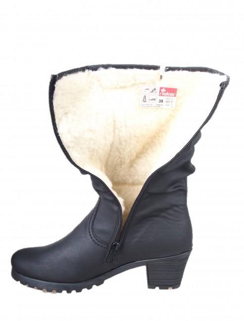 Rieker dámske nízke zimné čižmy - čierne ... da0fd2cc778