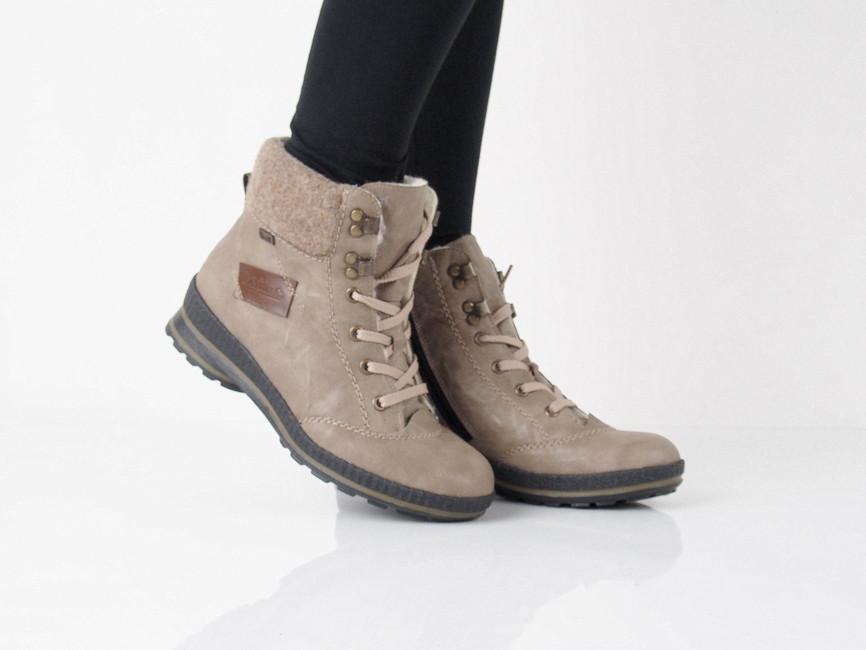23c857cfcd49 Rieker dámske zimné členkové topánky - béžové ...