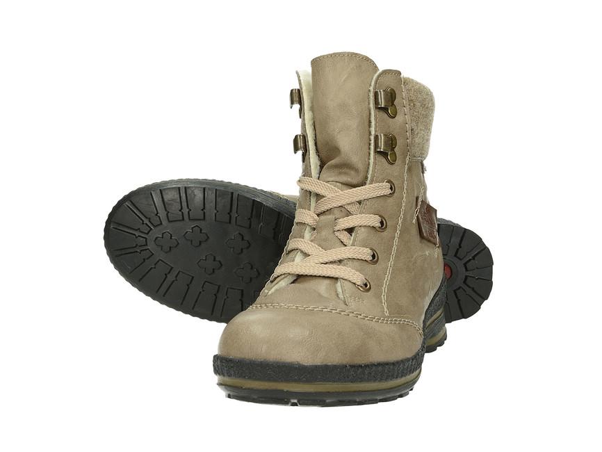 6325155801 ... Rieker dámske zimné členkové topánky - béžové ...