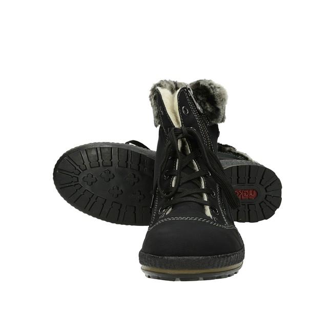 3144231b4efd0 Rieker dámske zimné kotníky s kožušinou - čierne | Z243100-BLK www ...