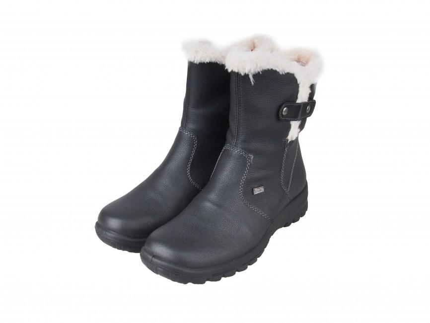 d8e4f8ad4774 Rieker dámske nízke zimné čižmy - čierne ...