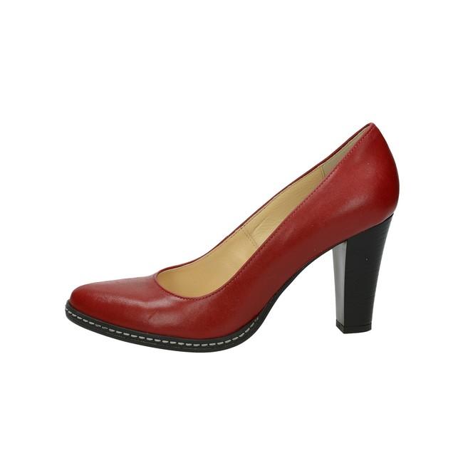 d049f5942511 Acord dámske kožené lodičky - červené Acord dámske kožené lodičky - červené  ...
