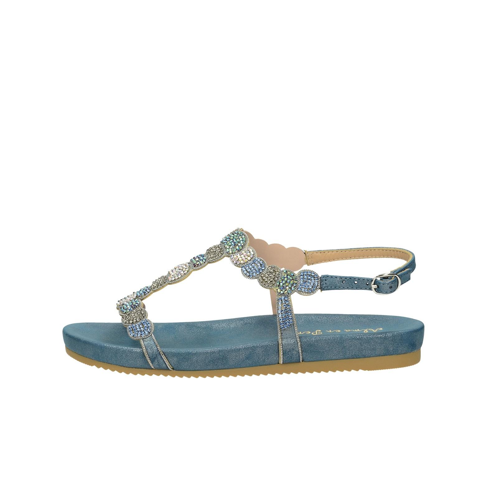 8ffa4514f802 ... Alma en Pena dámske štýlové sandále s ozdobnými kamienkami - modré ...