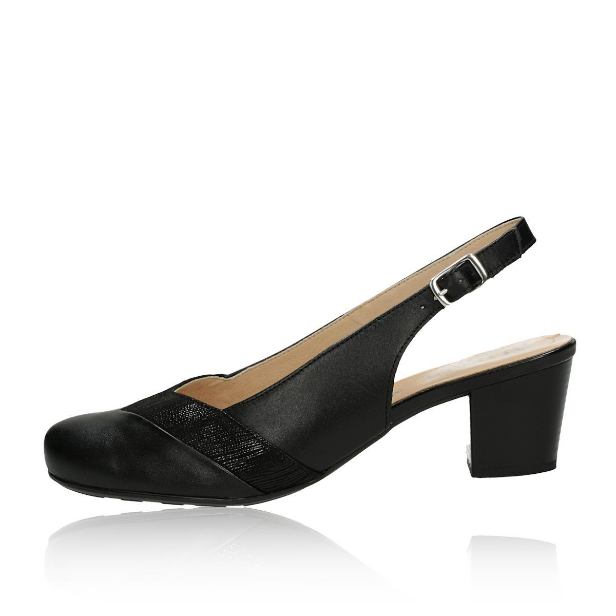 2fcbbde9f5 ... Alpina dámske kožené sandále s remienkom - čierne ...