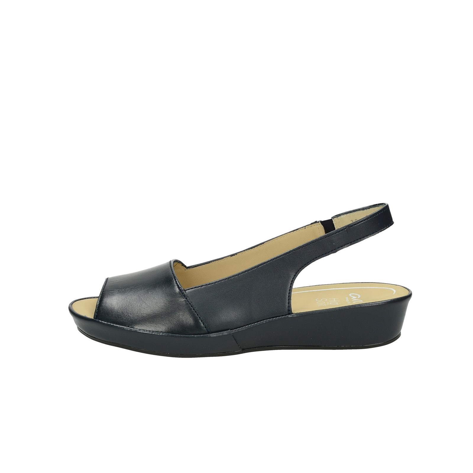 1be657cb198e ... Ara dámske kožené pohodlné sandále - tmavomodré ...