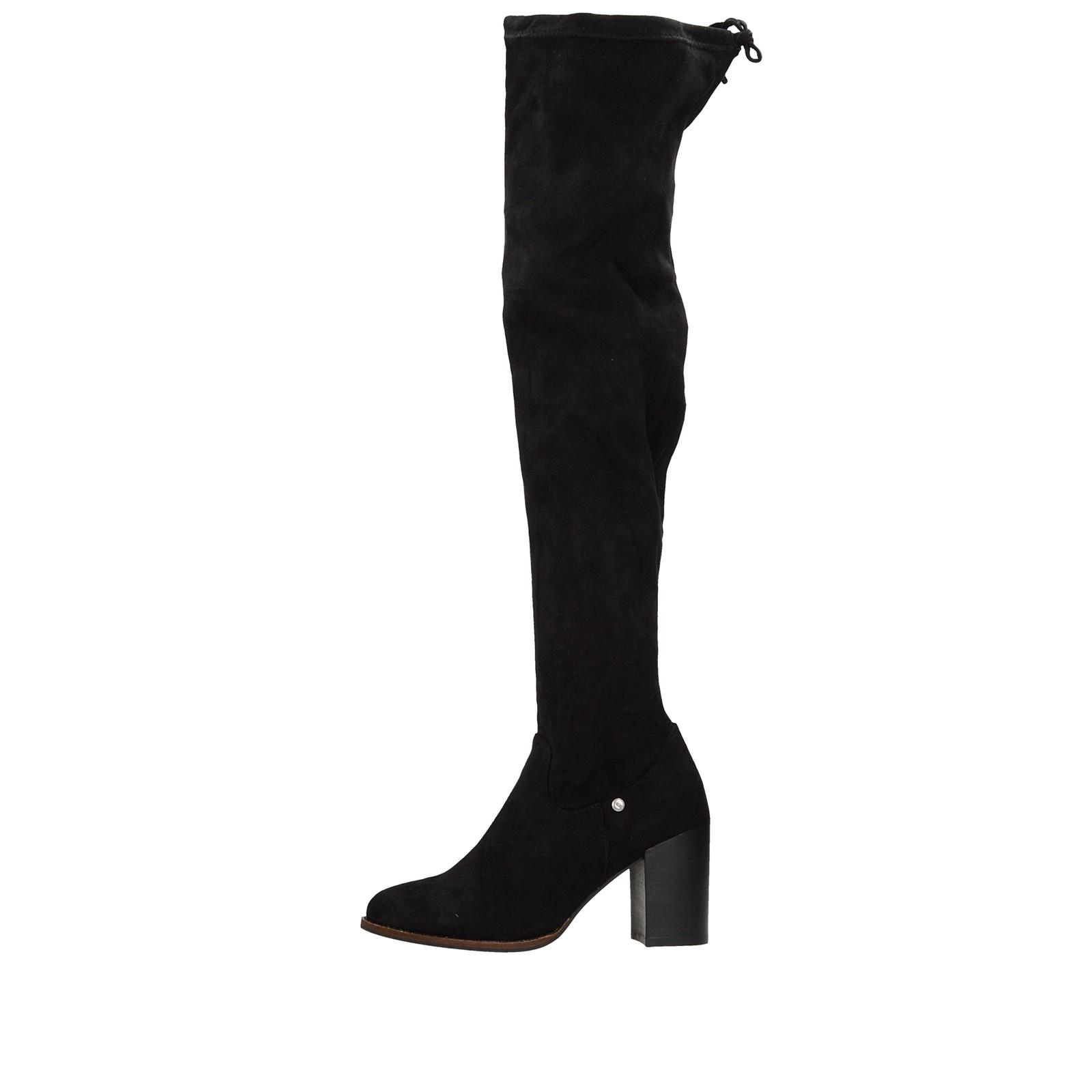 ... Big Star dámske textilné vysoké čižmy - čierne ... 5c50bba11ef