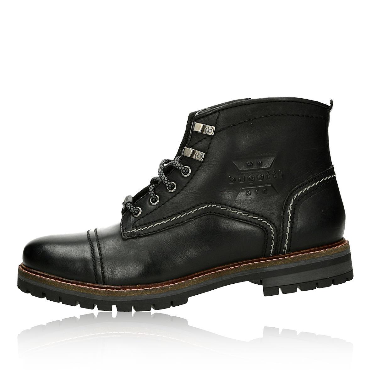 ... Bugatti pánska kožená členková obuv na zips - čierna ... 2d74d77a9fc