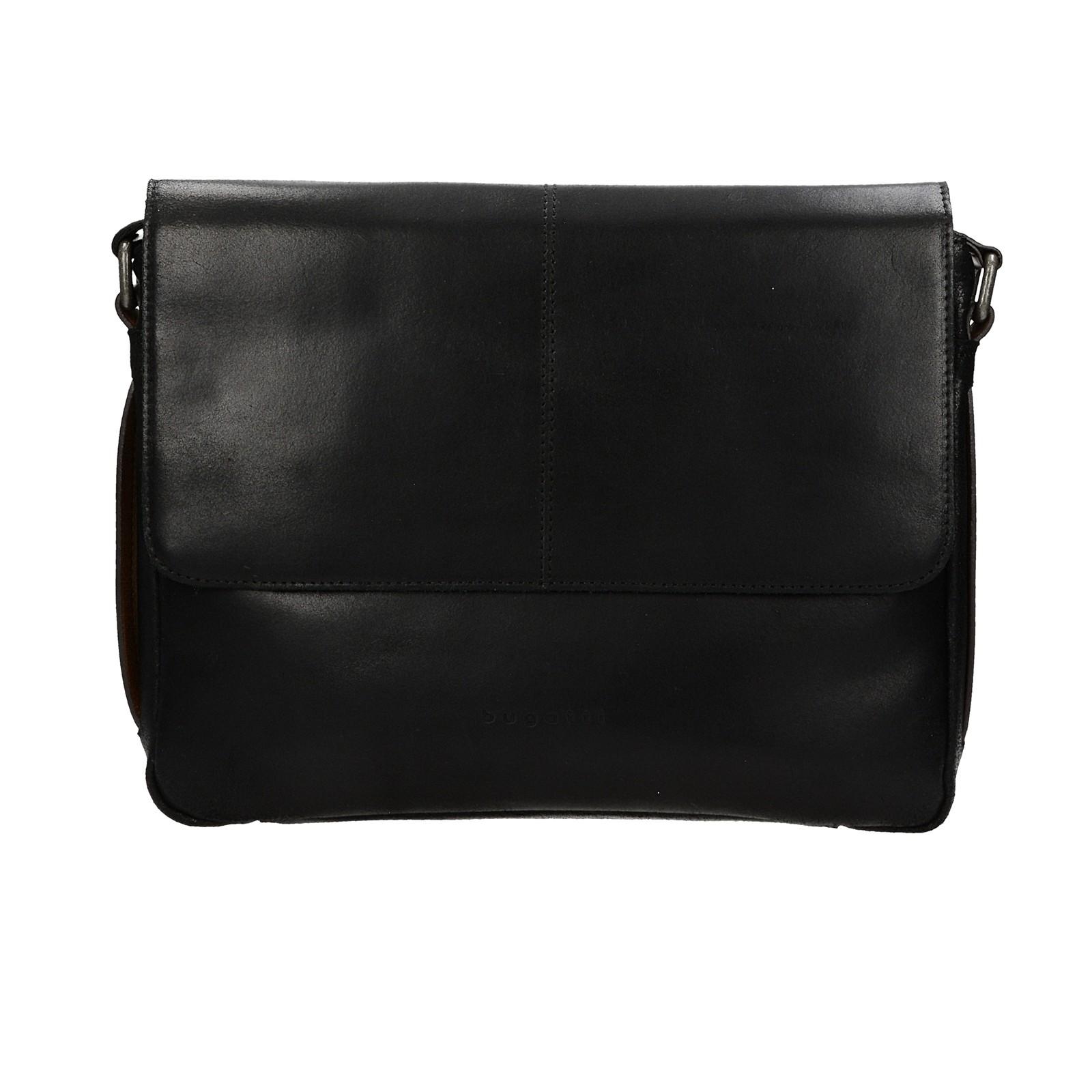 eebd003eb05 Bugatti pánska kožená laptopová taška - čierna ...