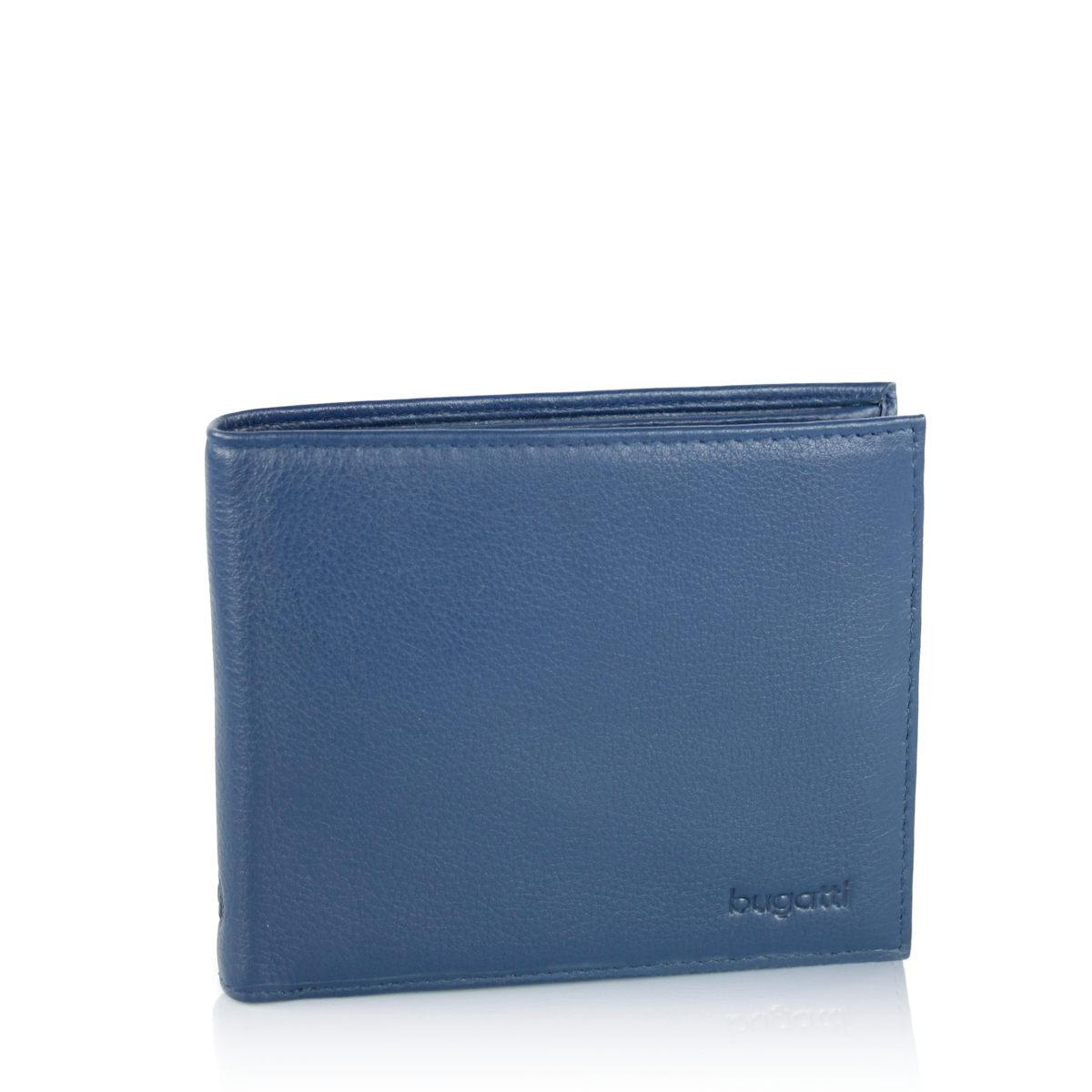 ac8b2bbfca54 Bugatti pánska kožená peňaženka - modrá Bugatti pánska kožená peňaženka -  modrá ...