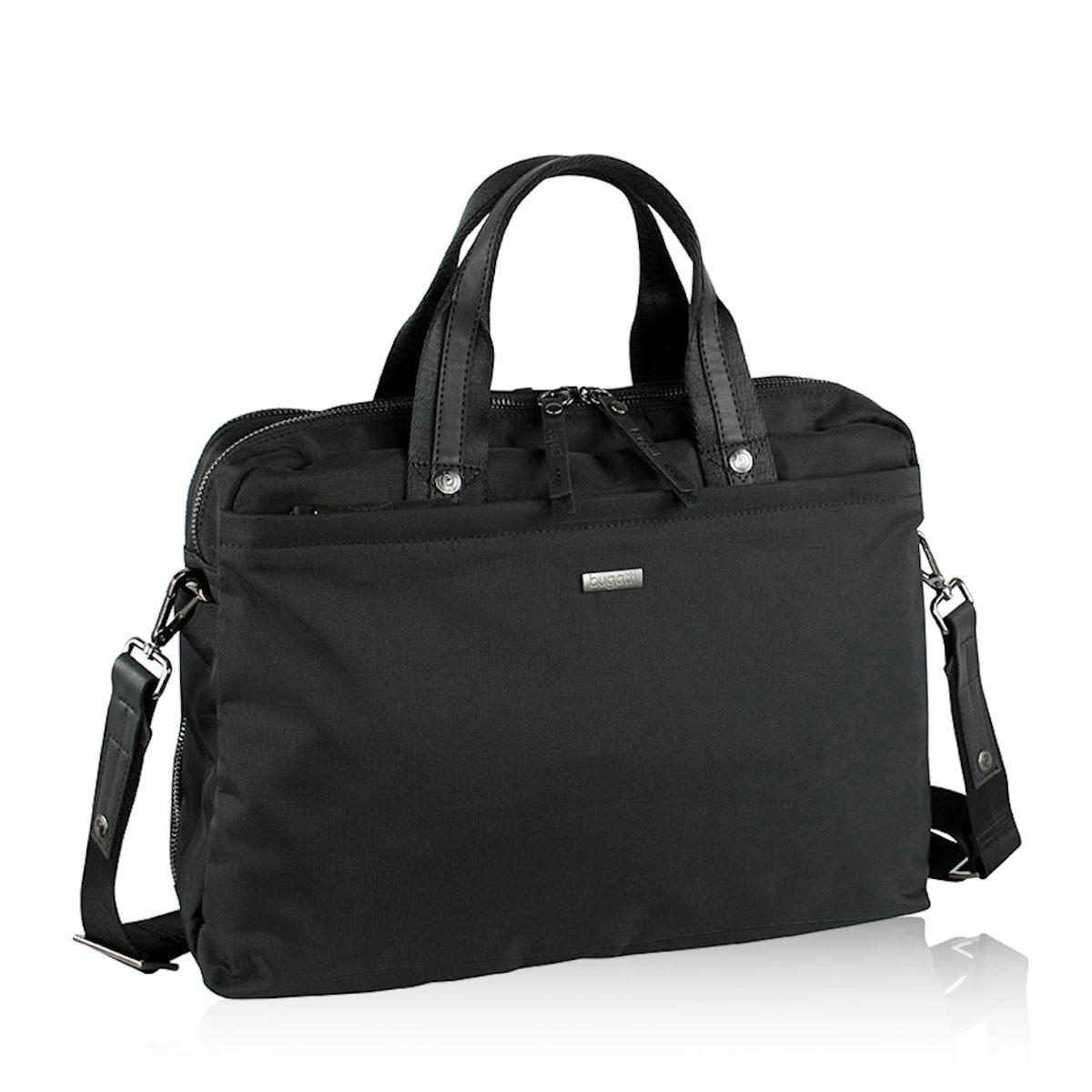 2a8d270039f Bugatti pánska praktická laptopová taška - čierna Bugatti pánska praktická laptopová  taška - čierna ...