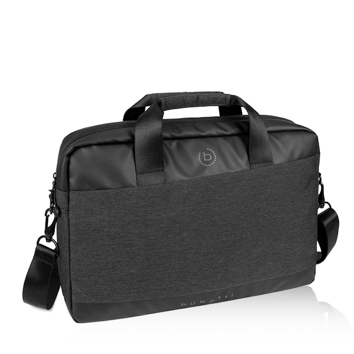 Bugatti pánska textilná notebooková taška - čierna
