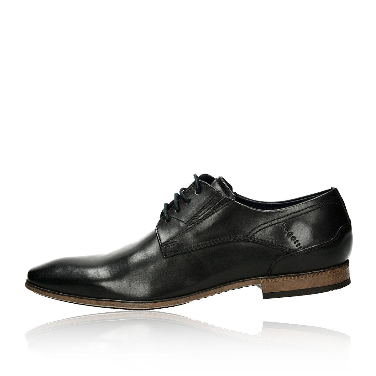 3c34e1e71c41 Bugatti pánske kožené spoločenské topánky - čierne Bugatti pánske kožené  spoločenské topánky - čierne ...