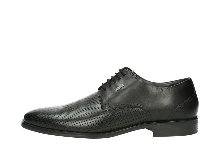 625abb3f81ba Bugatti pánske kožené topánky - čierne Bugatti pánske kožené topánky -  čierne ...