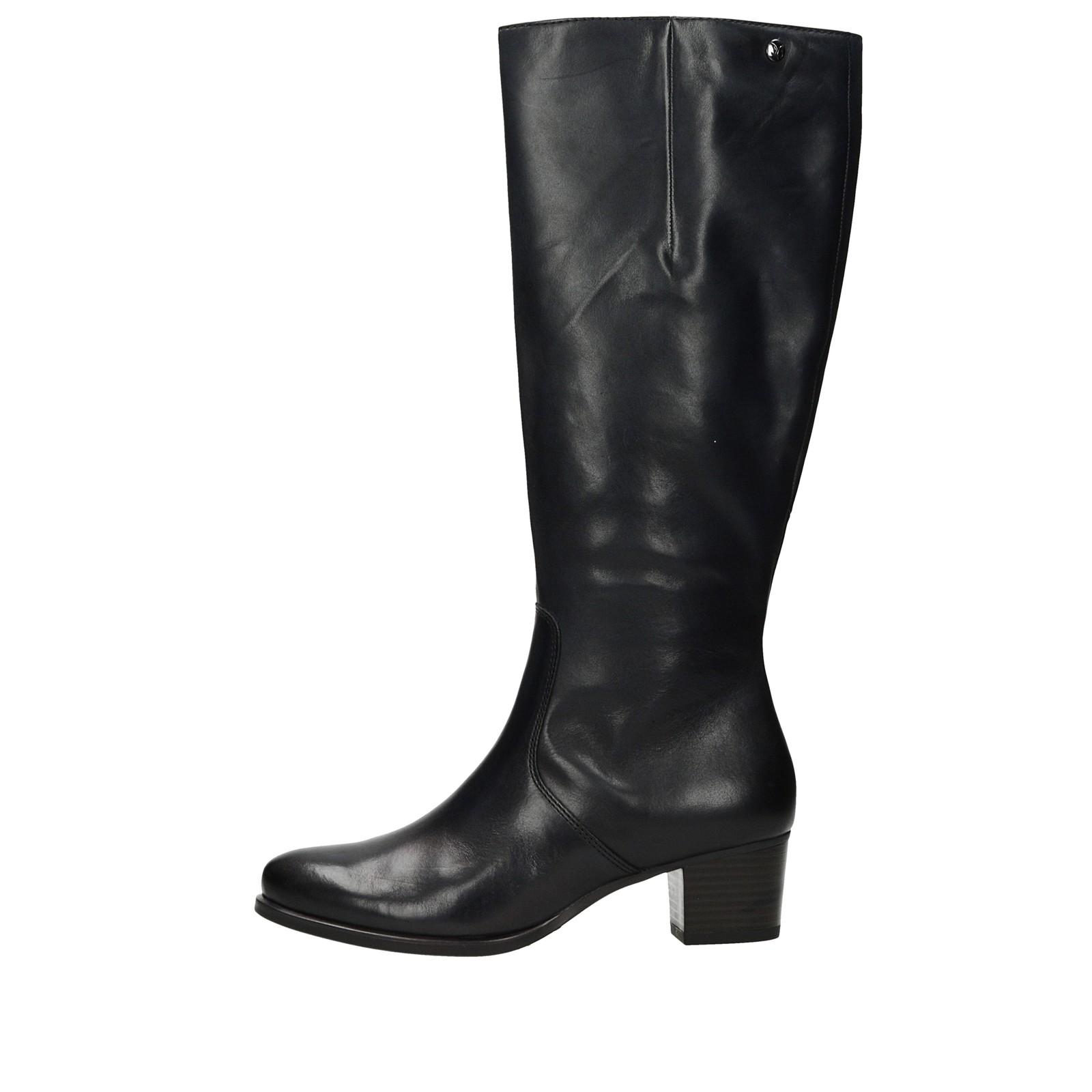 b9cf4c2d88 ... Caprice dámske kožené vysoké čižmy - čierne ...