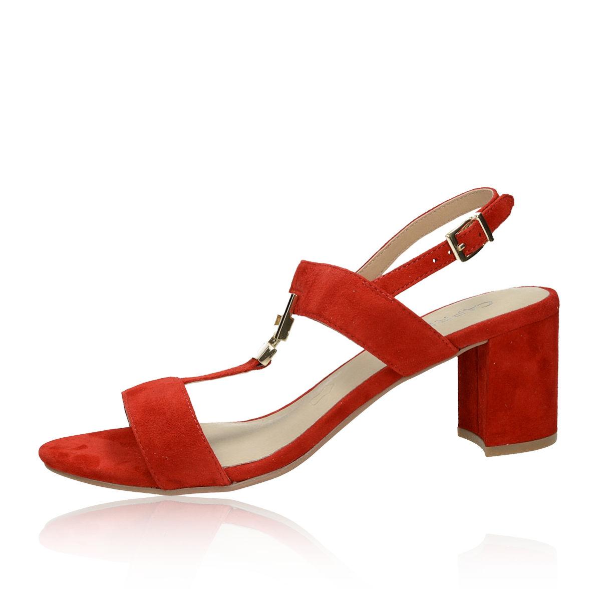 cbfc2ab018 Caprice dámske semišové sandále - červené Caprice dámske semišové sandále -  červené ...