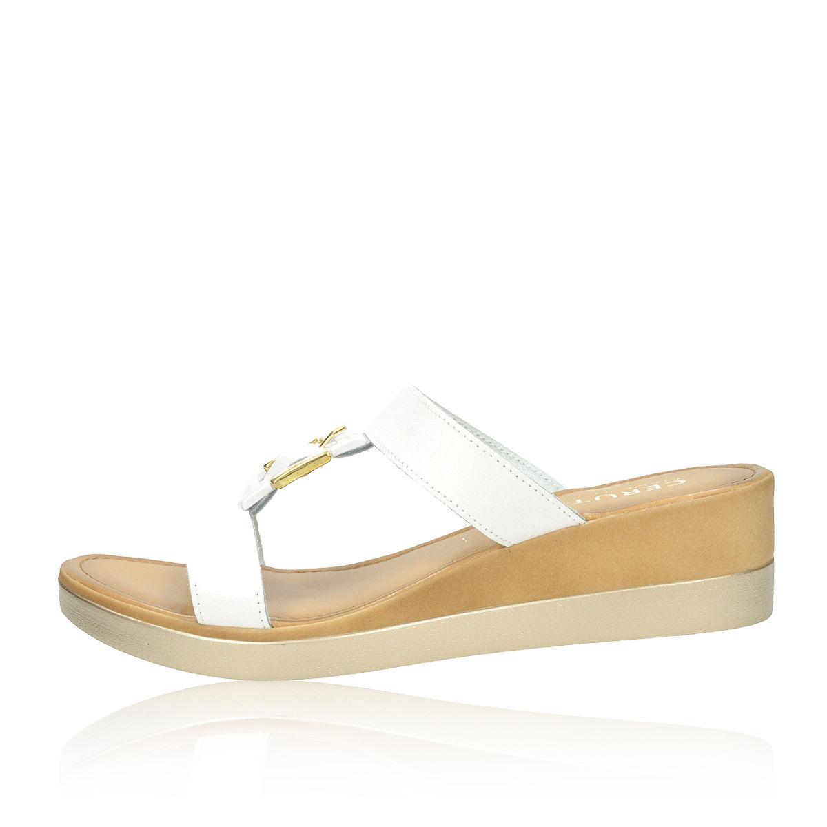 79a5d33df7 Cerutti dámske luxusné šľapky - biele Cerutti dámske luxusné šľapky - biele  ...