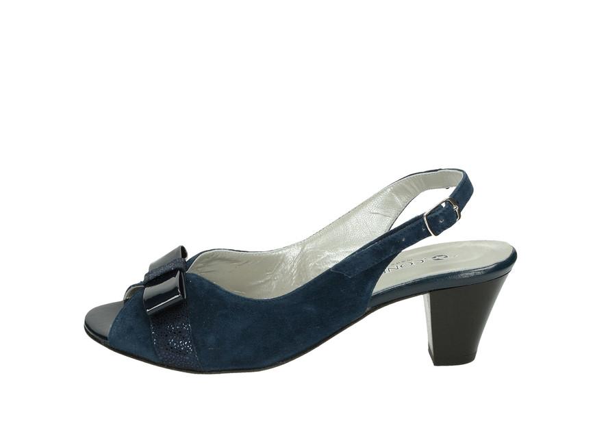 ... Confort SPA dámske sandále na podpätku - modré ... 9b2a06e5c26