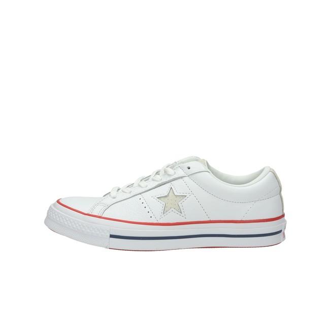 9841e7e9d5 Converse dámske kožené tenisky - biele Converse dámske kožené tenisky -  biele ...