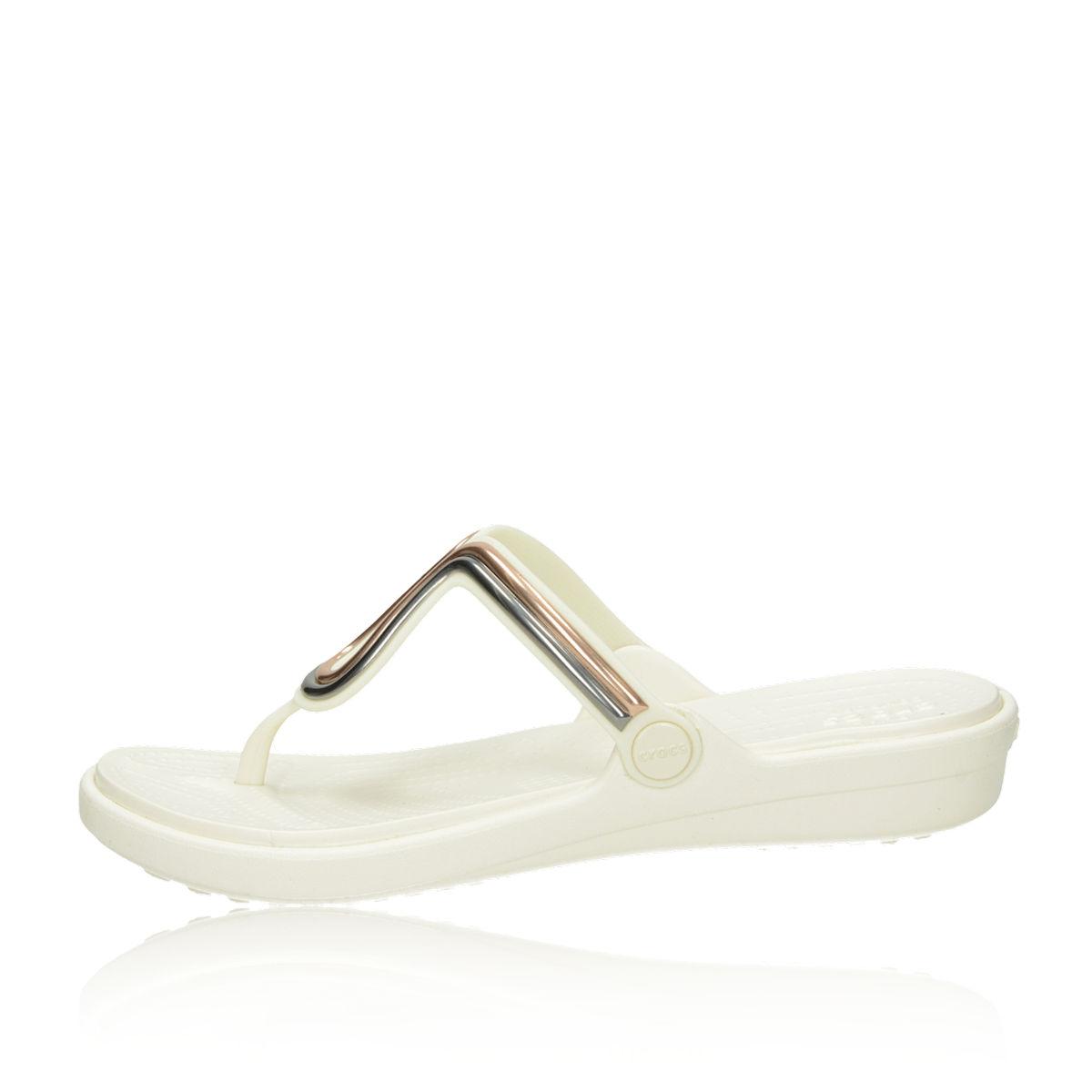 Crocs dámske štýlové šľapky - biele