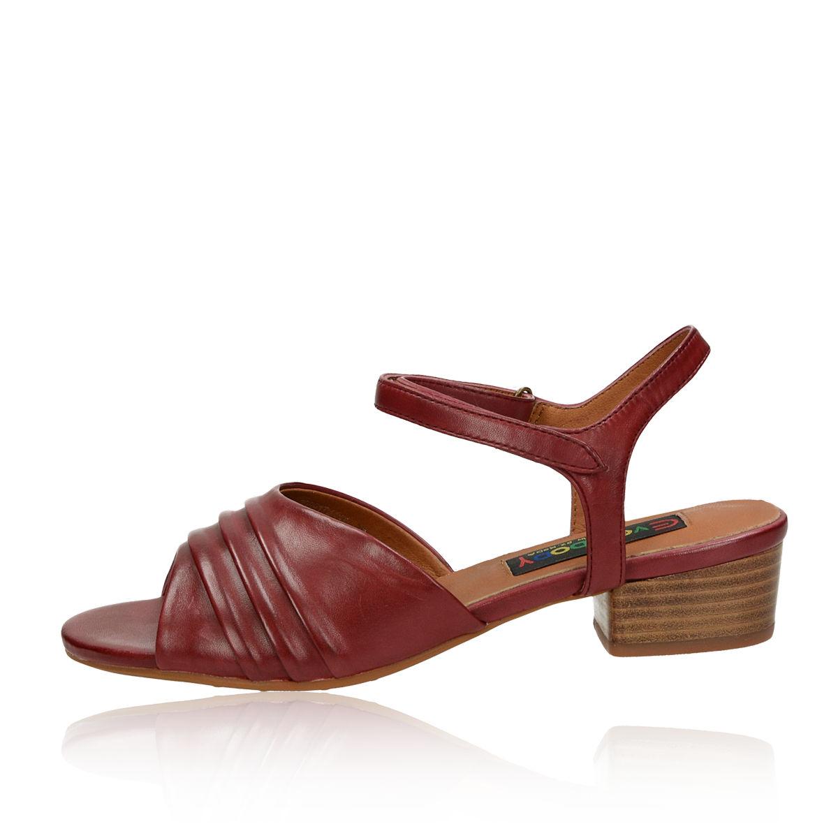 35a0fd3d9782 Everybody dámske kožené sandálé - bordové Everybody dámske kožené sandálé -  bordové ...