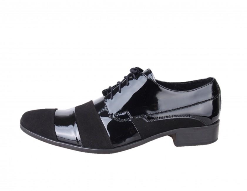 81317e5ac Spoločenské topánky. Faber pánske lakované poltopánky - čierne Faber pánske  lakované poltopánky - čierne ...