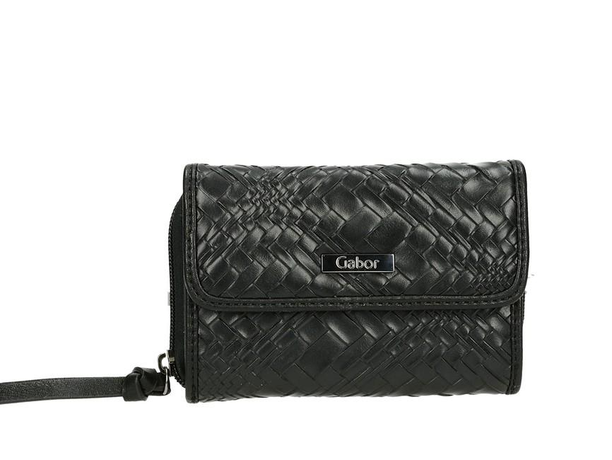 Gabor dámska praktická peňaženka na zips - čierna