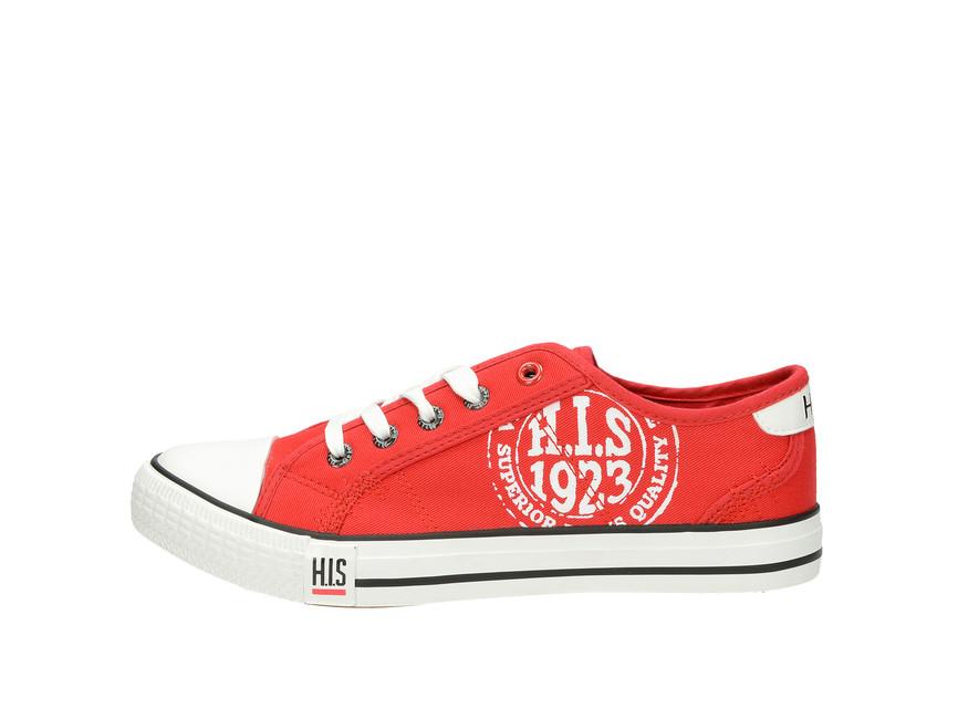 e829e778ee5c6 H.I.S. dámske plátené tenisky - červené H.I.S. dámske plátené tenisky -  červené ...