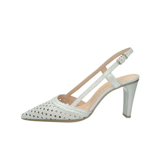bbca167fd738 ... Hispanitas dámske elegantné sandále s remienkom - strieborné ...