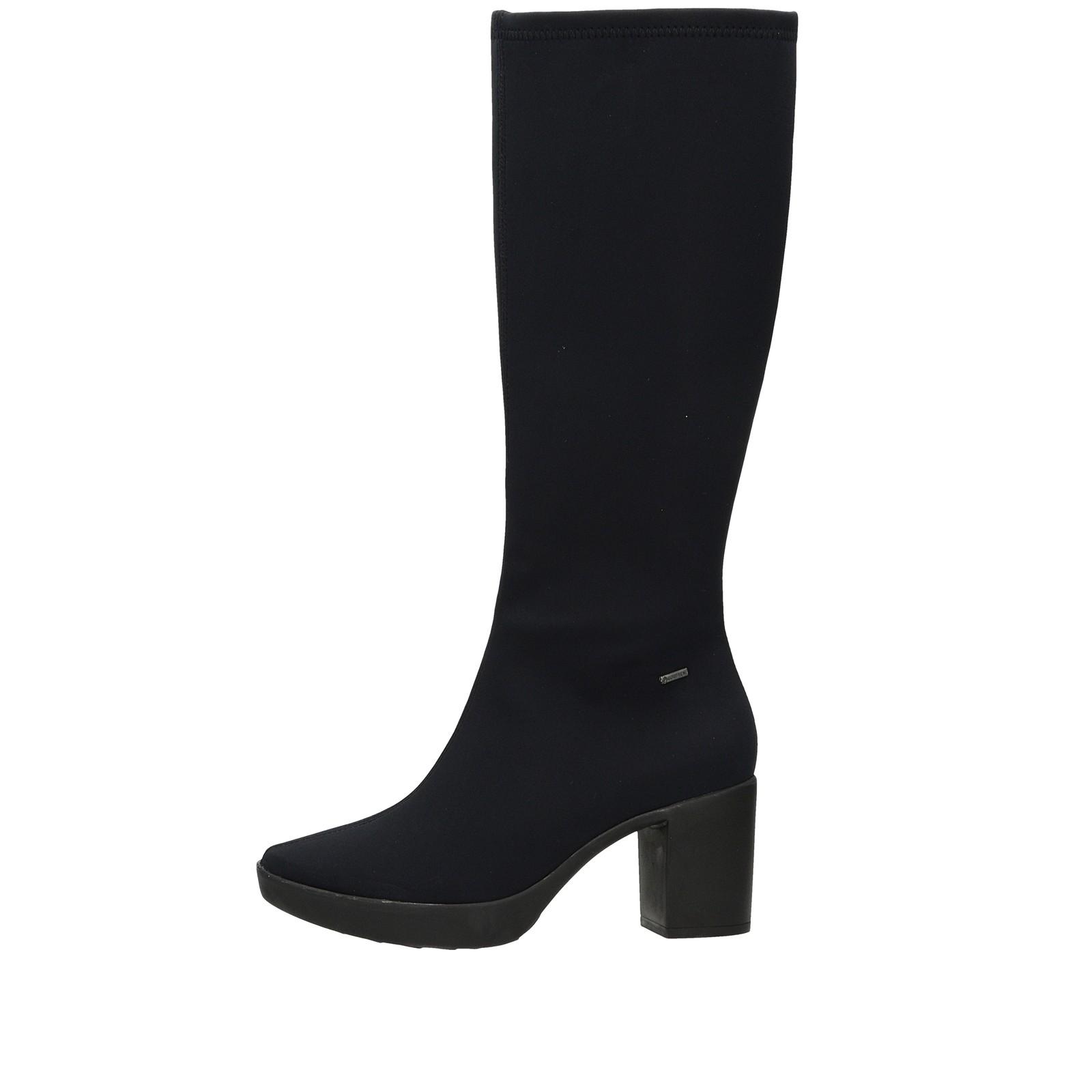 d054c6591179 ... Högl dámske textilné vysoké čižmy - čierne ...