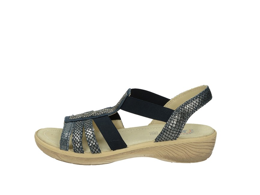 11a220f54fc2 Imac dámske kožené sandále - tmavomodré Imac dámske kožené sandále -  tmavomodré ...