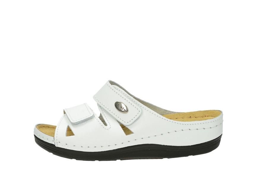 Inblu dámske kožené šľapky - biele Inblu dámske kožené šľapky - biele ... ea974aa4344