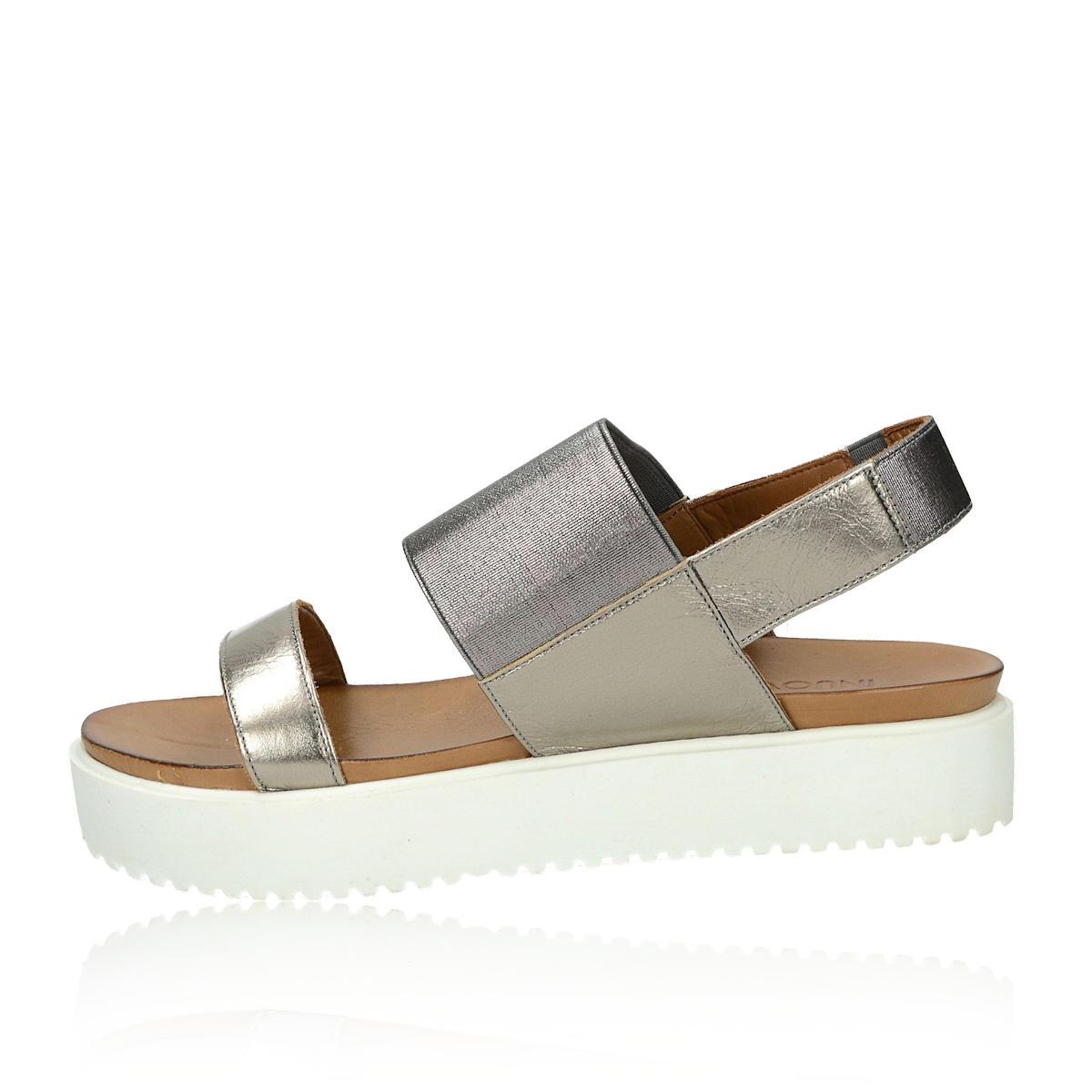 99b874587447 ... Inuovo dámske pohodlné sandále na platforme - zlaté ...