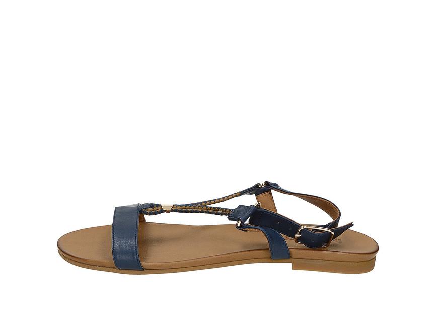 9c7bc228ba ... Inuovo dámske štýlové sandále s remienkom - modré ...