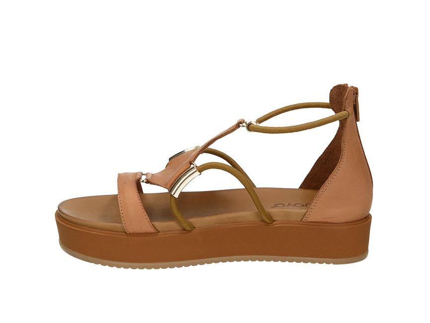 d758b18674 ... Inuovo dámske štýlové sandále so zipsom - hnedé ...