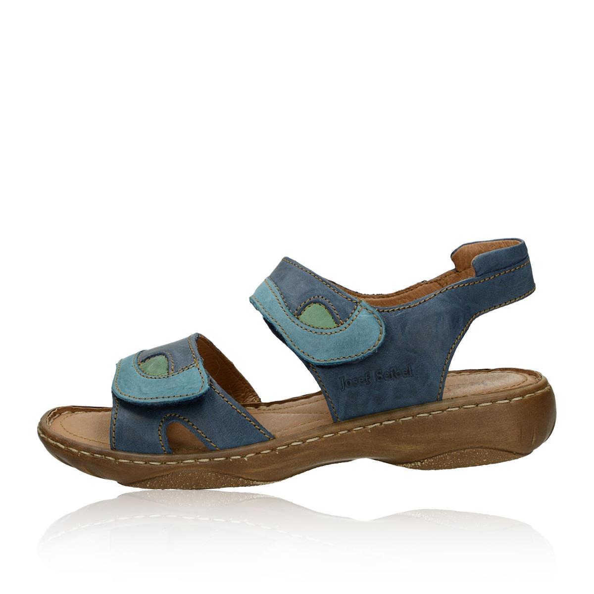 25d9a10ef7dff Josef Seibel dámske kožené sandále - modré | 76444.95502-BLUmulti ...