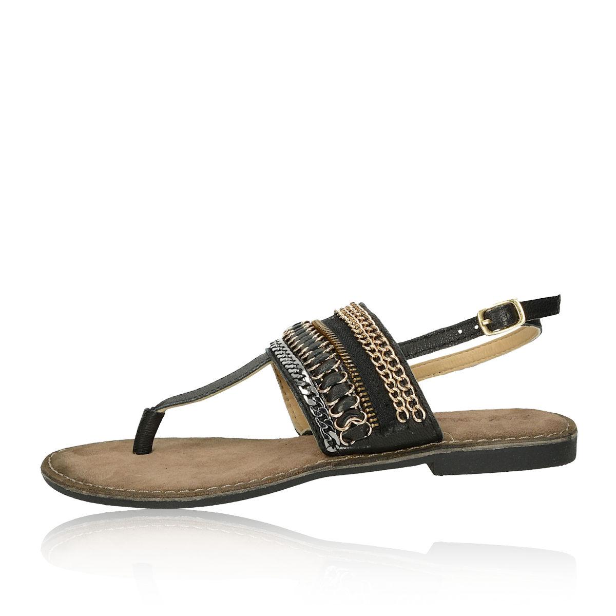 5fffadec03d6 ... Lazamani dámske elegantné sandále s ozdobnými prvkami - čierne ...
