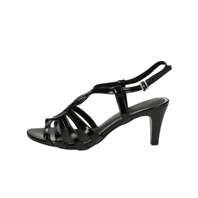 b090f4a0deca ... Marco Tozzi dámske elegantné sandále s remienkom - čierne ...