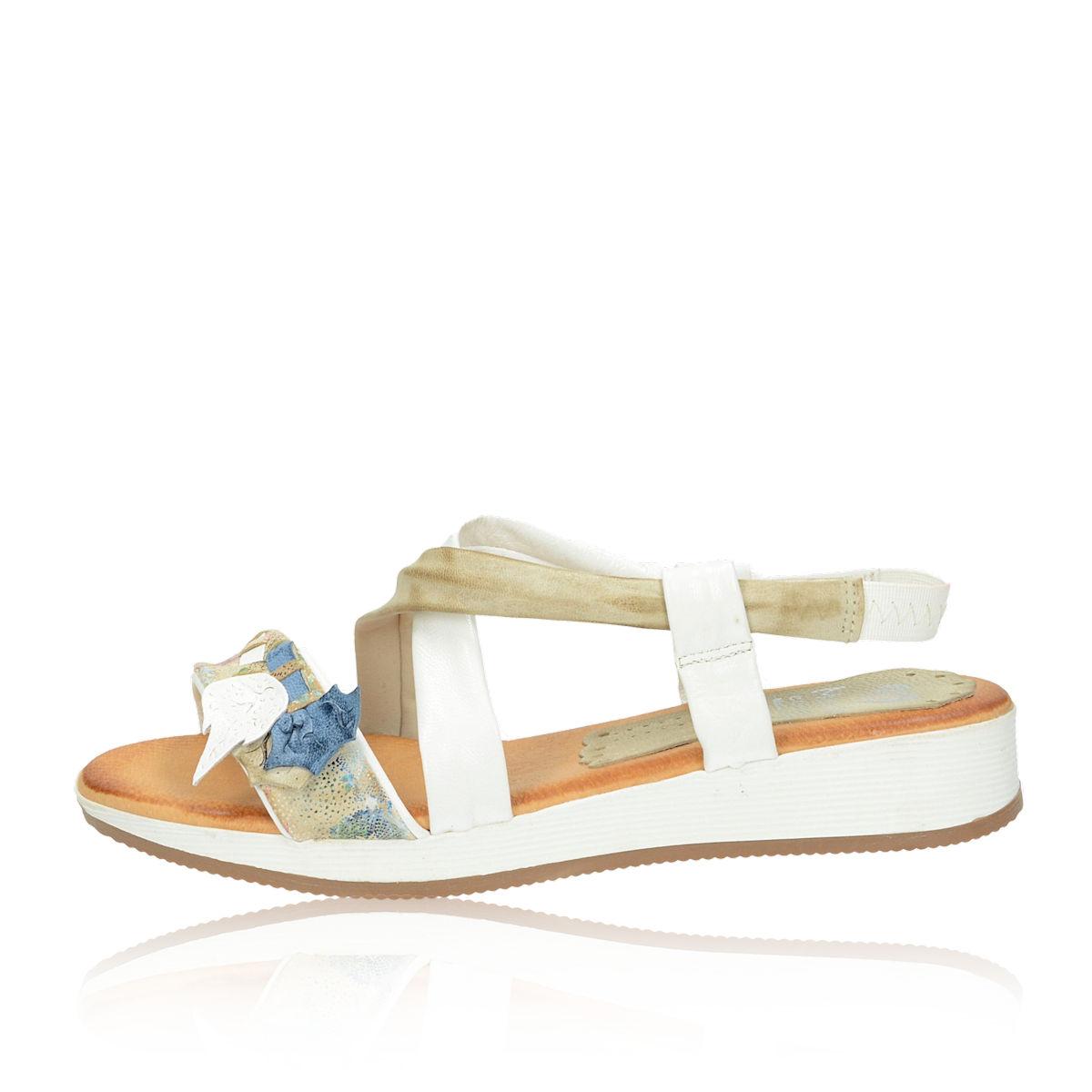 56d3cf422f19 ... Marila dámske pohodlné sandále s ozdobnými prvkami - biele ...
