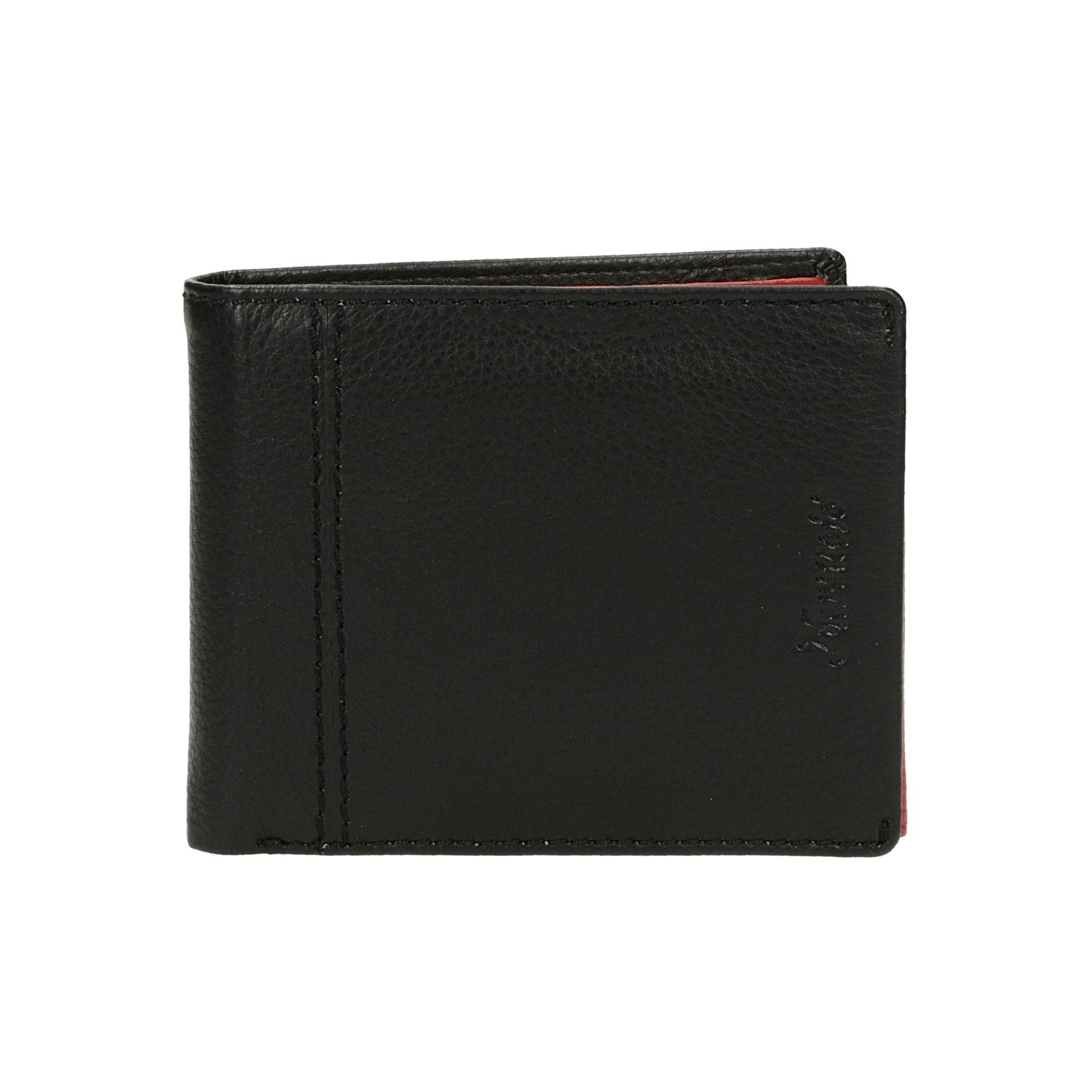 Mercucio pánska kožená peňaženka - čiernočervená ... 25bf5ef0a23