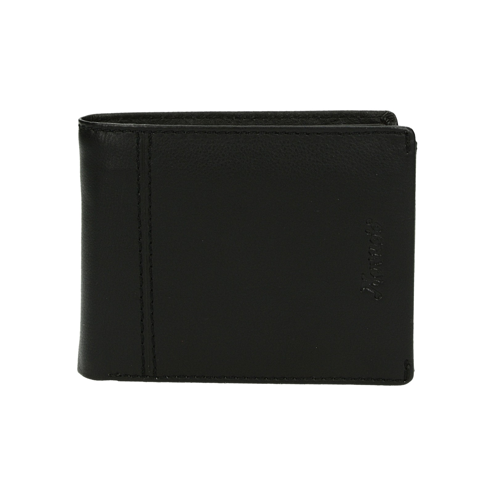 Mercucio pánska kožená praktická peňaženka - čierna