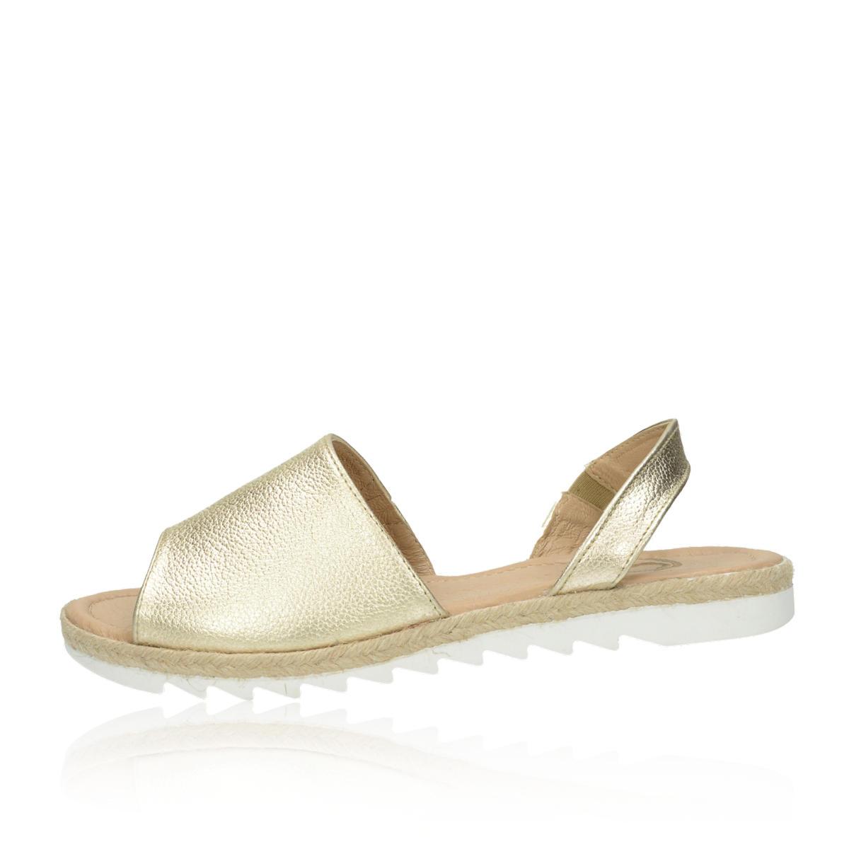 3b7cd97b7ffd ... Olivia shoes dámske kožené sandále - zlaté ...