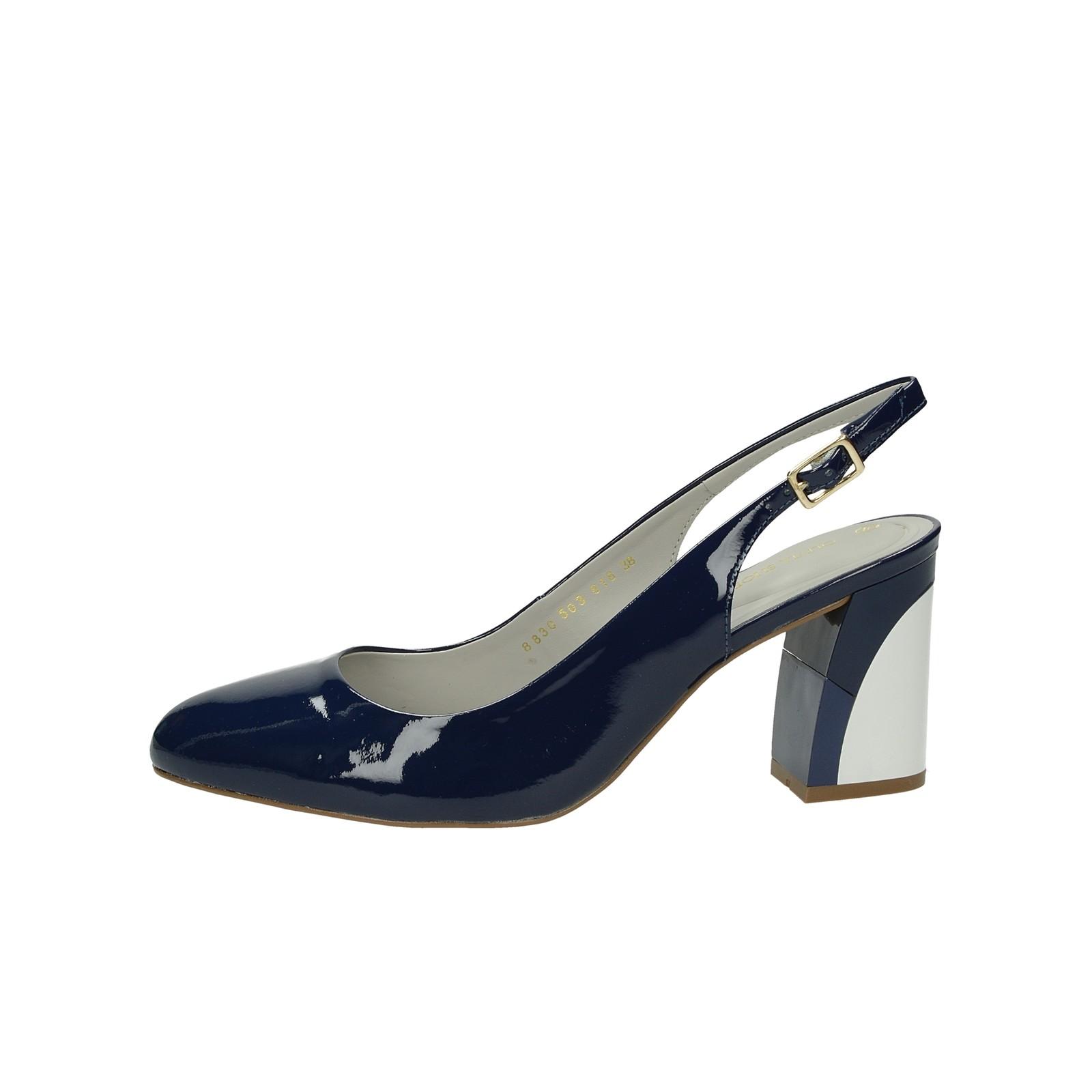 36fa20e7ae Olivia shoes dámske lakované sandále s remienkom - modré ...
