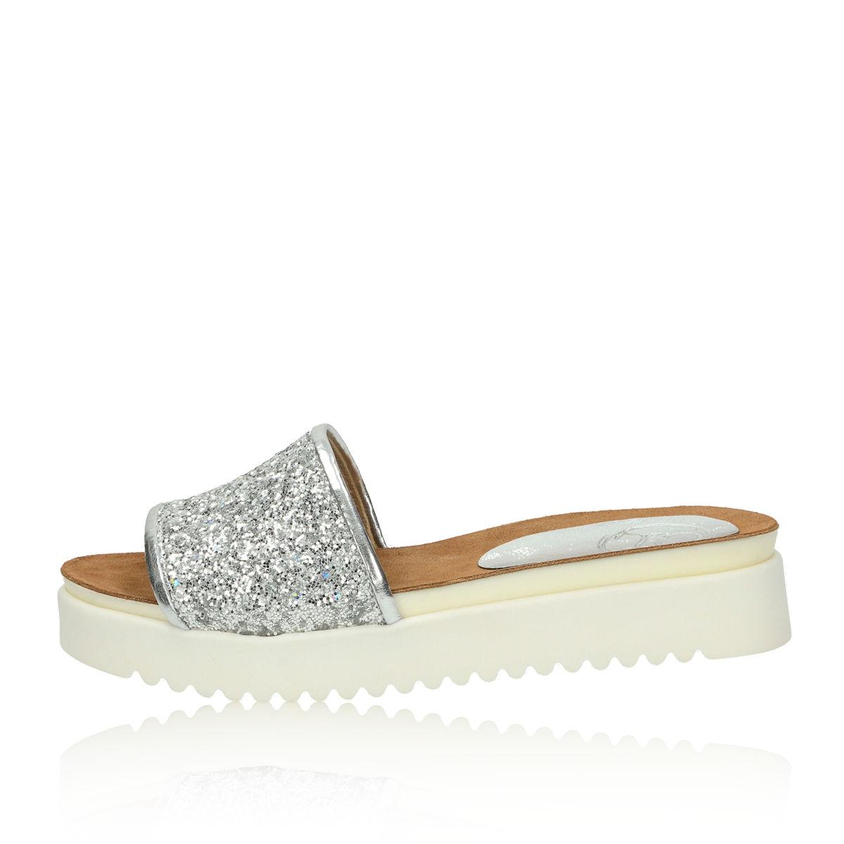 Olivia shoes dámske šľapky - strieborné Olivia shoes dámske šľapky -  strieborné ... 9eac1c8072a