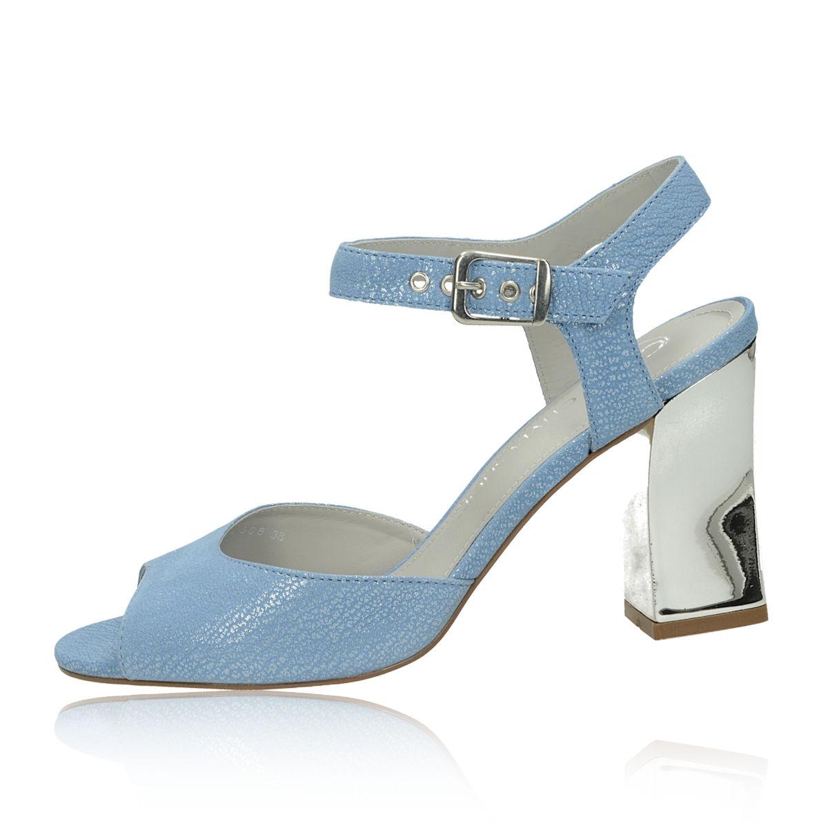 566d95e80104 ... Olivia shoes dámske štýlové sandále s remienkom - modré ...